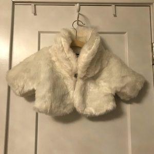 Mud Pie baby girl's furry jacket